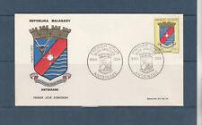 Madagascar   enveloppe 1er jour armoirie Antsirabe 1964