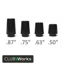 "Premium Collared Golf Club Ferrules - For irons & hybrids .370""  - 3 sizes"