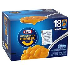 Kraft Macaroni and Cheese Dinner Pasta, Original Flavor, 7.25 oz  18 Pack