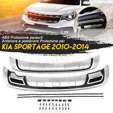 2pcs Protezione Paraurti Anteriore E Posteriore Tuning Per Kia Sportage 2010-14