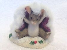 Charming Tails Fitz and Floyd Mackenzies Holiday Hat Special Edition 1998