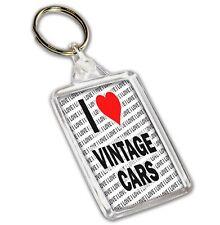 I Love Vintage Cars  - Keyring - Gift - Birthday - Christmas