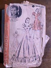 1930s Vintage Sewing Pattern Hollywood 1782 Sz 20 Volup