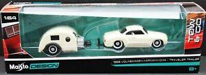 1966 Volkswagen Karrman Ghia / Traveler Trailer ~ Maisto Design Die Cast ~ 1:64