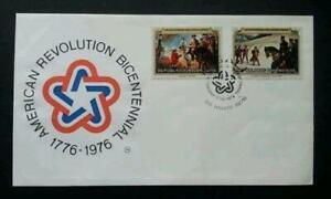 1976 RWANDA 📭🐎🐴 Anniversary American Revolution ⚡ Scott # 1856 📬🐎🐴 Horses