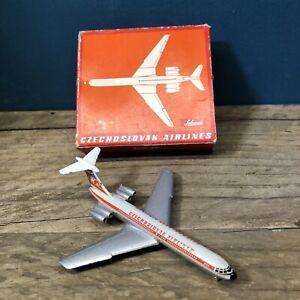 Schuco IL-62 Czechoslovak Airlines 335 797Piccolo Plane Good Conditon! #1801
