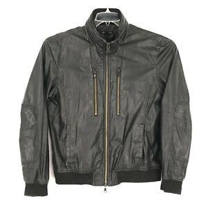 John Varvatos Star USA Jacket Adult XL Black Nylon Full Zip Hooded Pockets Mens