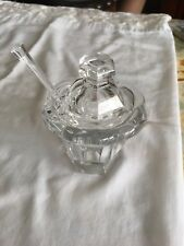 BACCARAT  CRYSTAL MISSOURI SMALL JAM JAR WITH SPOON- CRISTAL BACCARAT WOW