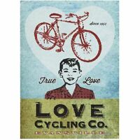 """Love Cycling Company by John Evans Vintage Bicycling Art Poster 24"""" x 36"""""""