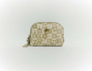 Coach F48676 Waverly Snow Queen Signature Coated Canvas Cosmetic Case/Pouch