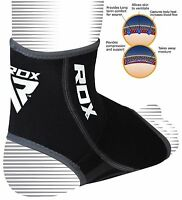 RDX Neoprene Ankle Support Foot Brace Guard Sports Shin Protector Feet MMA B