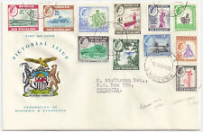 Rhodesia & Nyasaland 1959 FDC Pictorial 1/2d to 2s6d [11] Aug 12 Chingola