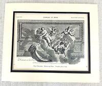 1903 Antico Stampa Muro Pittura The Palazzo Di Versailles France Charles Le Brun