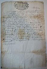 DOCUMENT ANCIEN  1774