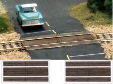 """N Gauge - Wood Plank Grade Crossings - """"2 sets per pack"""" - WOO-C1149"""