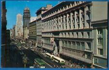 Famed Market Street, San Francisco, California - Buses, Cars, People 1961