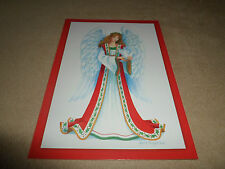 """Beautiful Christmas Angel Christmas Card By Paper Magic,4 1/2"""" X 6 1/2"""", NEW!"""