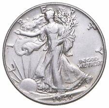 Choice AU 1946 Walking Liberty Silver Half Dollar *960