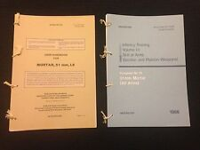 BRITISH ARMY 51mm MORTAR USER HANDBOOK AND PAMPHLET SAS PARAS FALKLANDS