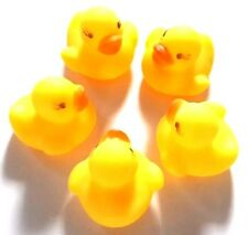 NEW SET 5 PCS COLLECTION SMALL RUBBER YELLOW DUCK  DUCKY DUCKIE CUTE BABY KID SH