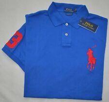 New XXL POLO RALPH LAUREN Mens Big Pony short sleeve shirt blue top 2XL red pony
