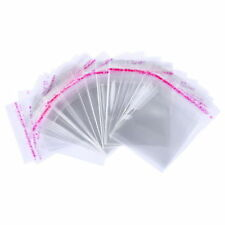 50 Buste Bustine Plastica Confezioni Chiusura Adesiva Trasparente 4X6 cm