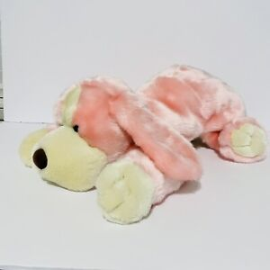 """Toys R Us, 2000- Animal Alley Pink Darby Puppy/ Dog Plush 18"""" Long"""