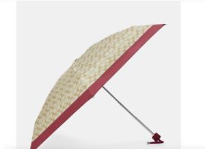 Coach Uv Protection Signature Mini Umbrella SV/Light Khaki Rouge