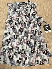 NWT Simply Vera by Vera Wang Women's Sleeveless button down blouse Size Small