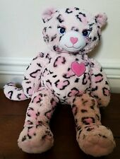 "Build A Bear Pink Black White 18"" Leopard Cat"