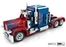 Optimus Prime, Peterbilt Truck / Rig Transformers Technical Brick Model - 849pcs
