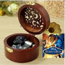 Circle Wood Silver Wind Up Music Box : Beauty And The Beast Theme Song