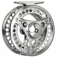 CNC Machined Fly Fishing Reel 3/4 5/6 7/8WT Aluminum Large Arbor Silver Fly Reel
