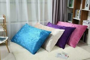 Large Luxury Crushed Velvet Cushion Covers Multi Purpose Floor Dog Bed Cover
