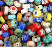 "Millefiori Glass DISCs Loose Beads MixColor 6mm 14""strand*55pcs+"