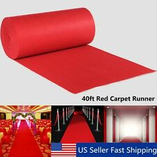 40ftX3ft Large Red Carpet Wedding Aisle Floor Runner Hollywood Party Decoration