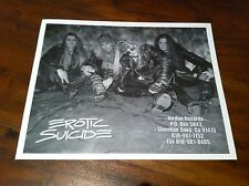 EROTIC SUICIDE '8 x 10' Black & White Band Photo Glam Rock Hair Metal NEW Rare