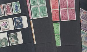 Vietnam 1962-66 Mint MNH Full Set Blocks Flower Festival Meteorology WHO Health