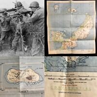 WWII Rare USMC Confidential Okinawa Operational Combat Map 77th Infantry Relic