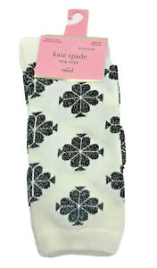 Kate Spade white patterned crew socks one size fits most