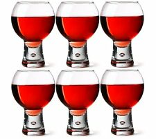 6 x Durobor ALTERNATO Cocktail GLASSES Wine Glass BUBBLE STEM 410ml Goblets