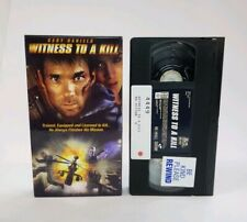First Look VHS Witness To A Kill 2000 Action Thriller Rare Gary Daniels OOP