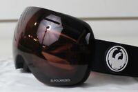 New 2018 Dragon X1s Ski Snowboard Goggles Black - Polarized Lumalens