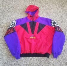 Vintage Arctic Cat Color Block Snowmobile Jacket Size XL Pullover