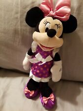 Disney Minnie Mouse  Plush Stuffed Animal  With Purple Feets