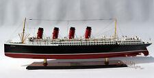 "RMS Mauretania 1906 Cunard Line Ocean Liner Wooden Ship Model 38"" Scale 1:250"