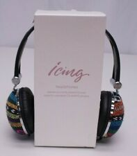 Icing Multicolor Fabric Wired Over Ear Headphones New
