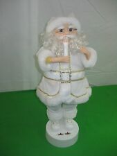 Christmas Lighted Animated White Santa Display Figure Battery Operated