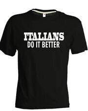 T-shirt MADONNA Italians do it better nera copia stampa cantante unisex cotone