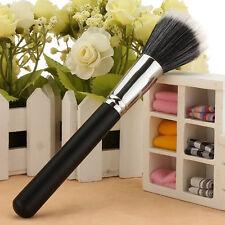 Pop Makeup Black Cosmetic Duo Fiber Stippler Blush Foundation Powder Brush Gifts